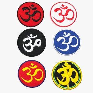 Accessories - Om patch iron on yoga spiritual aum DIY peace love
